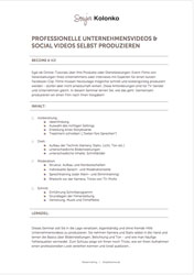 PROFESSIONELLE UNTERNEHMENSVIDEOS & SOCIAL VIDEOS SELBST PRODUZIEREN